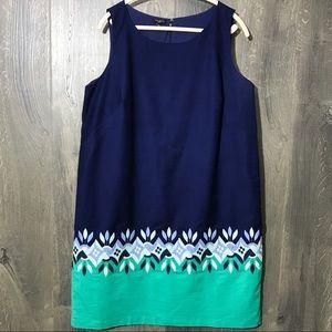 Talbots Embroidered Sleeveless Dress